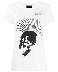 Thom Krom スカル プリント Tシャツ White