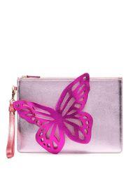 Sophia Webster Flossy ジップ クラッチバッグ Pink
