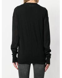 Cárdigan con cuello en V Helmut Lang de color Black