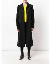 Moschino - Black Single Breasted Coat - Lyst