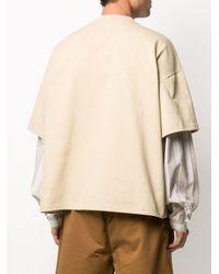 メンズ Sunnei オーバーサイズ Tシャツ Natural