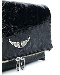 Zadig & Voltaire Black Rocky Creased Crossbody Bag