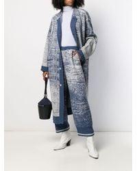 Speckled knit cardigan coat di Miaoran in Blue