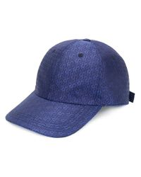 Versace - Blue Grecca Print Baseball Cap for Men - Lyst