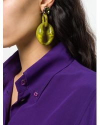 Prada Green Acrylic Glass Earrings