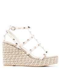 Valentino Garavani Multicolor Rockstud 95mm Wedge Sandals