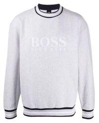 メンズ BOSS by Hugo Boss クルーネック スウェットシャツ White