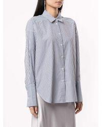 Lee Mathews Blue Gestreiftes Oversized-Hemd