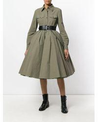 Moschino - Green Flared Military Shirt Dress - Lyst