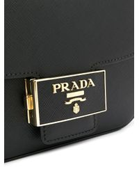 Prada ロゴ ベルトバッグ Black