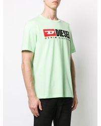 メンズ DIESEL 90's ロゴ Tシャツ Green