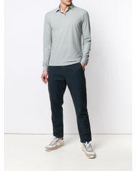 Polo de manga larga Zanone de hombre de color Gray