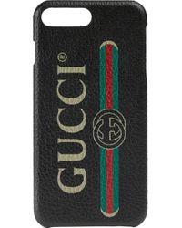 Gucci ロゴ Iphone 8 Plus カバー Black