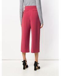 Elisabetta Franchi Pink Belted Culottes