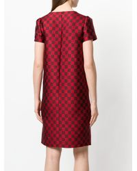 Gianluca Capannolo Red Checked Dress