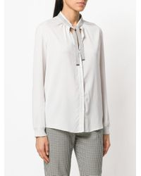 Fabiana Filippi White Tie Neck Shirt