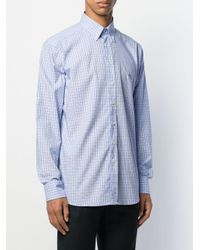 Camisa a cuadros con botones Etro de hombre de color Blue