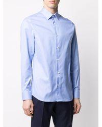 Camisa lisa Z Zegna de hombre de color Blue