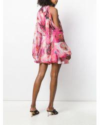 MSGM フローラル ドレス Pink