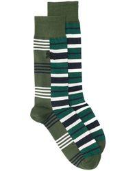 Burberry Green Striped Socks