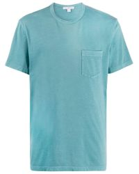 メンズ James Perse パッチポケット Tシャツ Blue