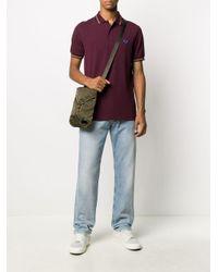 メンズ Fred Perry ロゴ ポロシャツ Purple
