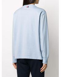 Thom Browne 4bar ロングtシャツ Blue