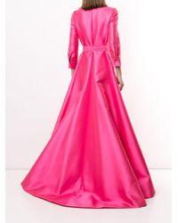 Carolina Herrera ウエストタイ ドレス Pink