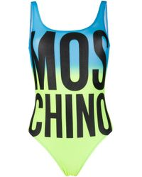 Moschino ロゴプリント 水着 Blue