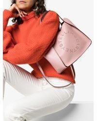 Borsa tote con logo di Stella McCartney in Pink