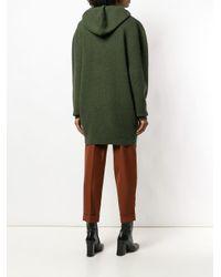Victoria Beckham オーバーサイズ フーデッドセーター Green