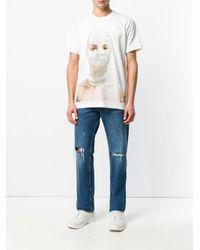 Ih Nom Uh Nit White Embellished Pearl T-shirt for men