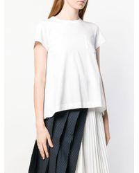 Sacai プリーツ Tシャツ White