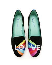 Blue Bird Shoes Prisma スエード ローファー Black