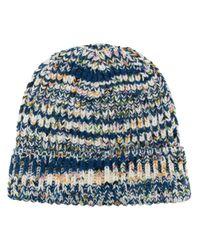 Missoni Blue Mélange-effect Wool Beanie for men