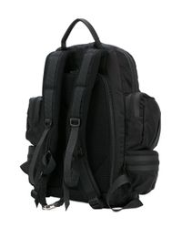 DSquared² Black Multi-pocket Backpack for men