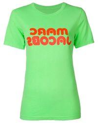 T-shirt con logo di Marc Jacobs in Green