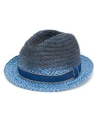 Paul Smith - Men's Blue Viscose Hat for Men - Lyst