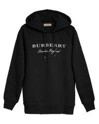 Burberry - Black Logo Hoodie - Lyst