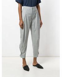 Fabiana Filippi Gray Cropped Trousers