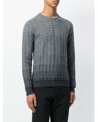 Paolo Pecora - Gray Ombre Sweater for Men - Lyst