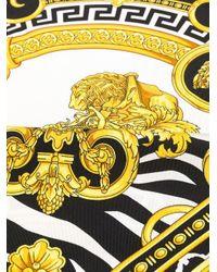 Foulard à imprimé baroque Versace pour homme en coloris Black