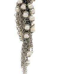 Marc Le Bihan - Metallic Chain And Brown Earrings - Lyst