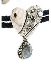 Alexander McQueen - Black Heart Charm Bracelet - Lyst