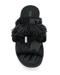 Marc Jacobs - Black Emerson Pom Pom Sports Sandals - Lyst