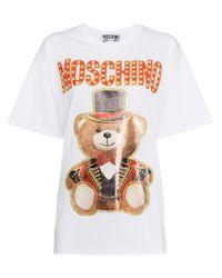 T-shirt con stampa di Moschino in White