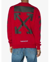 Off-White c/o Virgil Abloh - Red Monalisa Sweatshirt for Men - Lyst