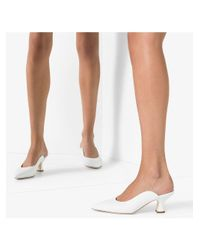 Burberry White Spitze Mules