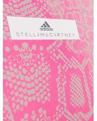 Bañador con motivo de piel de serpiente Adidas By Stella McCartney de color Pink