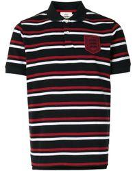 メンズ Kent & Curwen ストライプ ポロシャツ Black